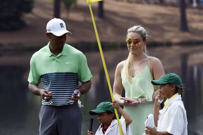 Lindsey Vonn's not much of a golf fan but she's a darn good girlfriend to Tiger Woods