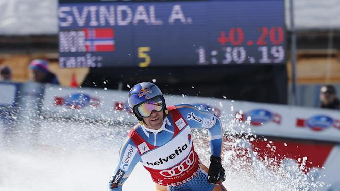 Mayer wins downhill, Svindal takes overall lead