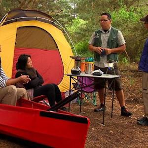 Cool camping gear includes phone-charging stove
