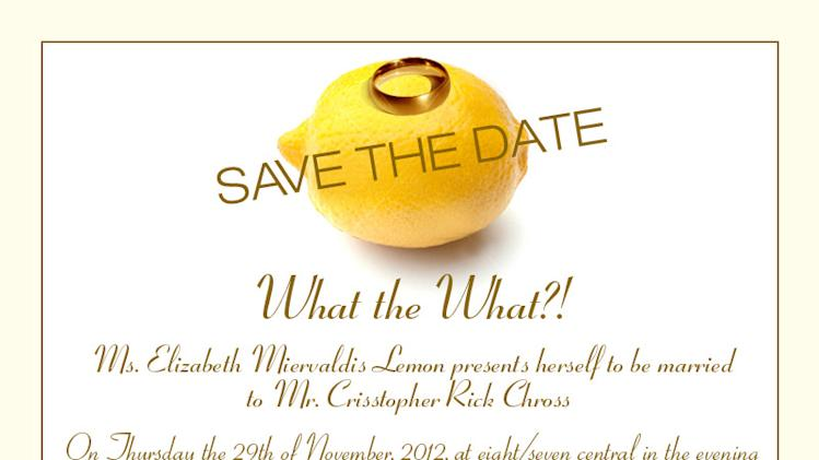 '30 Rock': Liz Lemon Sets a Wedding Date - But Nuptials Won't Be 'Creepy'