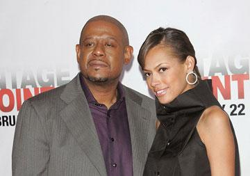 Forest Whitaker and wife Keisha at the New York City premiere of Columbia Pictures' Vantage Point