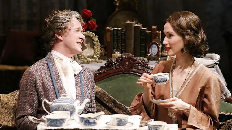 "This theater image released by Jim Randolph Media Relations shows Dale Carman, left, and Victoria Mack in Sidney Howard's ""The Silver Cord,"" currently performing off-Broadway in a Peccadillo Theater Company production at Theatre at St. Clement's. (AP Photo/Jim Randolph Media Relations, Carol Rosegg)"