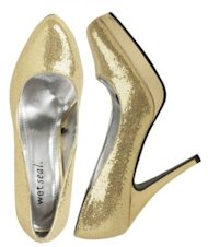 Wet Seal glitter pump, $24.50.