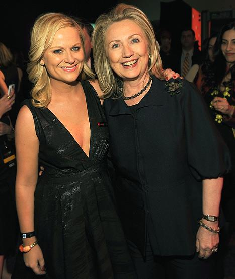 PIC: See Amy Poehler Greet Hillary Clinton at the Time 100 Gala!