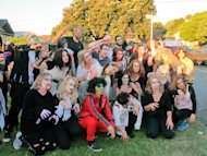 In this photo taken Oct. 31, 2012, Weta Digital staff celebrate Halloween in the company&#39;s Wellington studios in New Zealand. Previously never celebrated, Halloween now has a place in the region due to the large influence of Americans who come down under seeking work in the studios film making enterprises. Weta Digital is the centerpiece of a filmmaking empire that Peter Jackson and close collaborators have built in his New Zealand hometown, realizing his dream of bringing a slice of Hollywood to Wellington. Its a one-stop shop for making major movies - not only his own, but other blockbusters like Avatar and The Avengers and hoped-for blockbusters like next years Man of Steel. (AP Photo/Nick Perry)