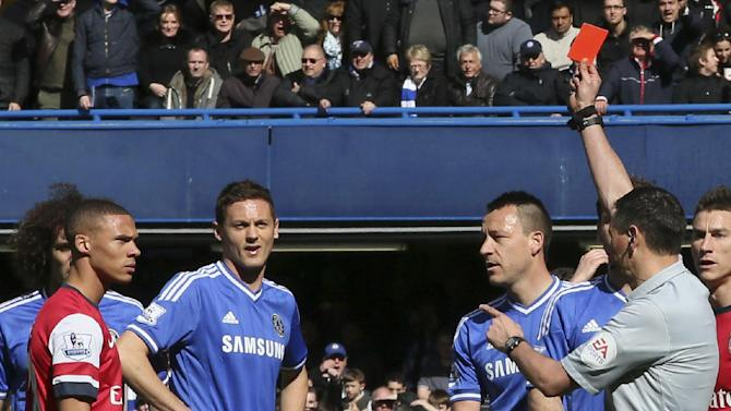 Chelsea routs Arsenal as ref ejects wrong player