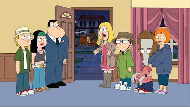 "When a storm hits Langley Falls the Smiths must stay home in the ""Hurricane!"" episode of ""American Dad."""