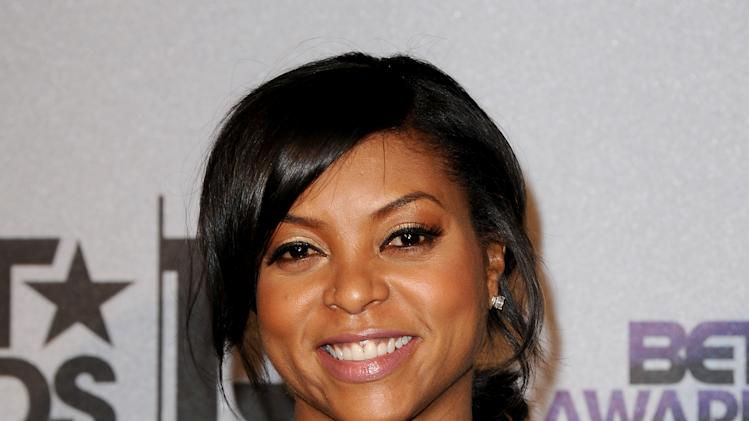 Taraji P. Henson poses backstage at the BET Awards at the Nokia Theatre on Sunday, June 30, 2013, in Los Angeles. (Photo by Scott Kirkland/Invision/AP)