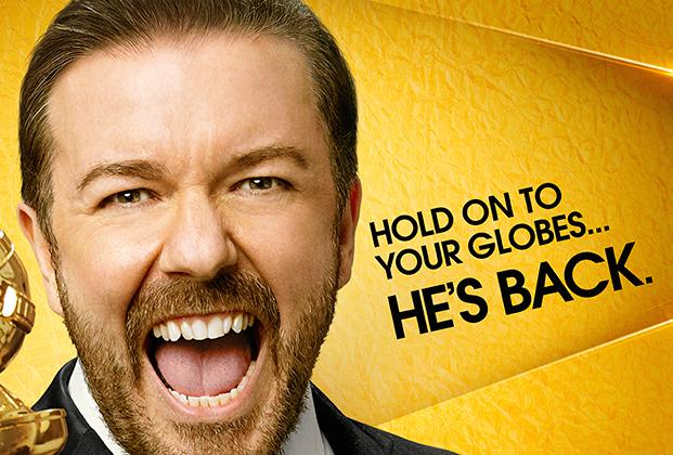 Golden Globes First Look: Ricky Gervais Is Back to Skewer Hollywood's Best