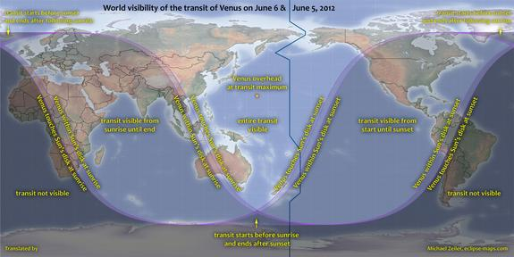 Transit of Venus Explained: The Stages of Today's Rare Sun Crossing