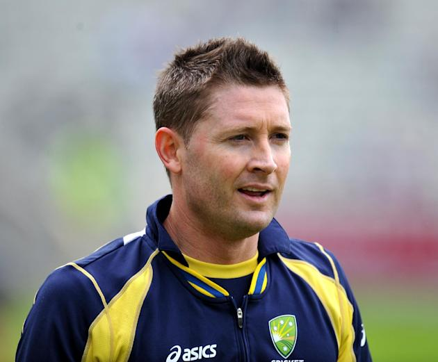 Michael Clarke ended unbeaten on 224 from 243 deliveries