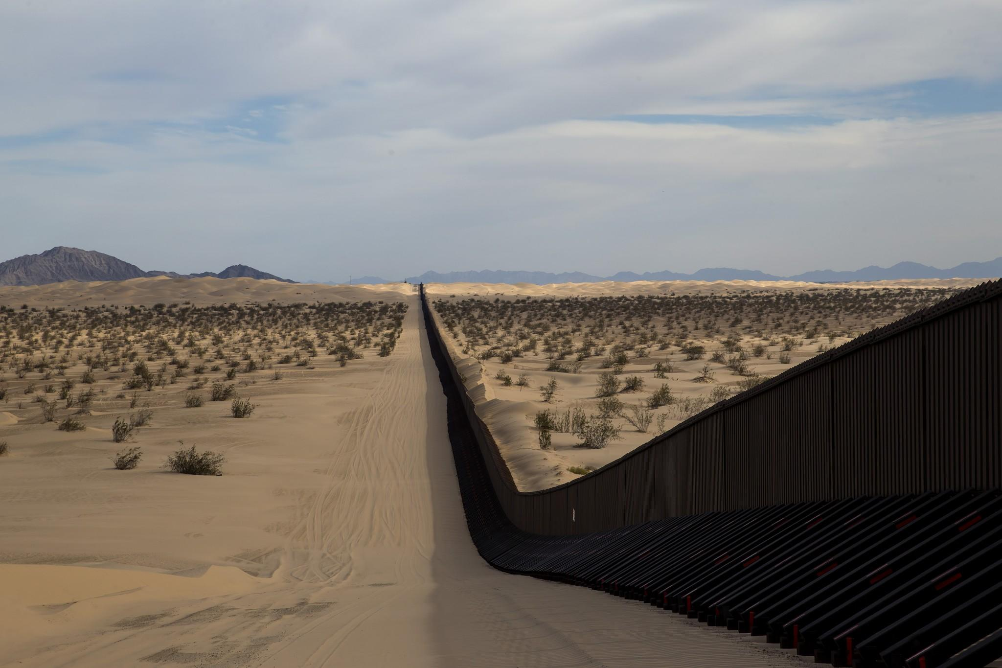 On the border, waiting for the big, beautiful wall