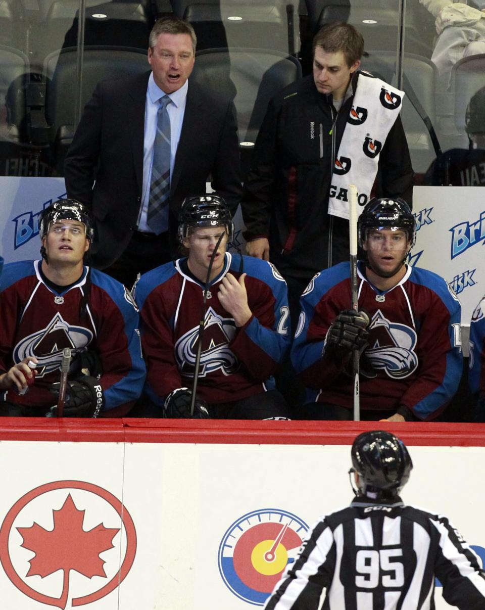 Roy fined $10K for outburst in Avs coaching debut