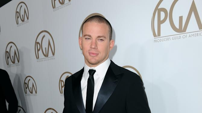 IMAGE DISTRIBUTED FOR THE PRODUCERS GUILD - Channing Tatum arrives at the 24th Annual Producers Guild (PGA) Awards at the Beverly Hilton Hotel on Saturday Jan. 26, 2013, in Beverly Hills, Calif. (Photo by Jordan Strauss/Invision for The Producers Guild/AP Images)