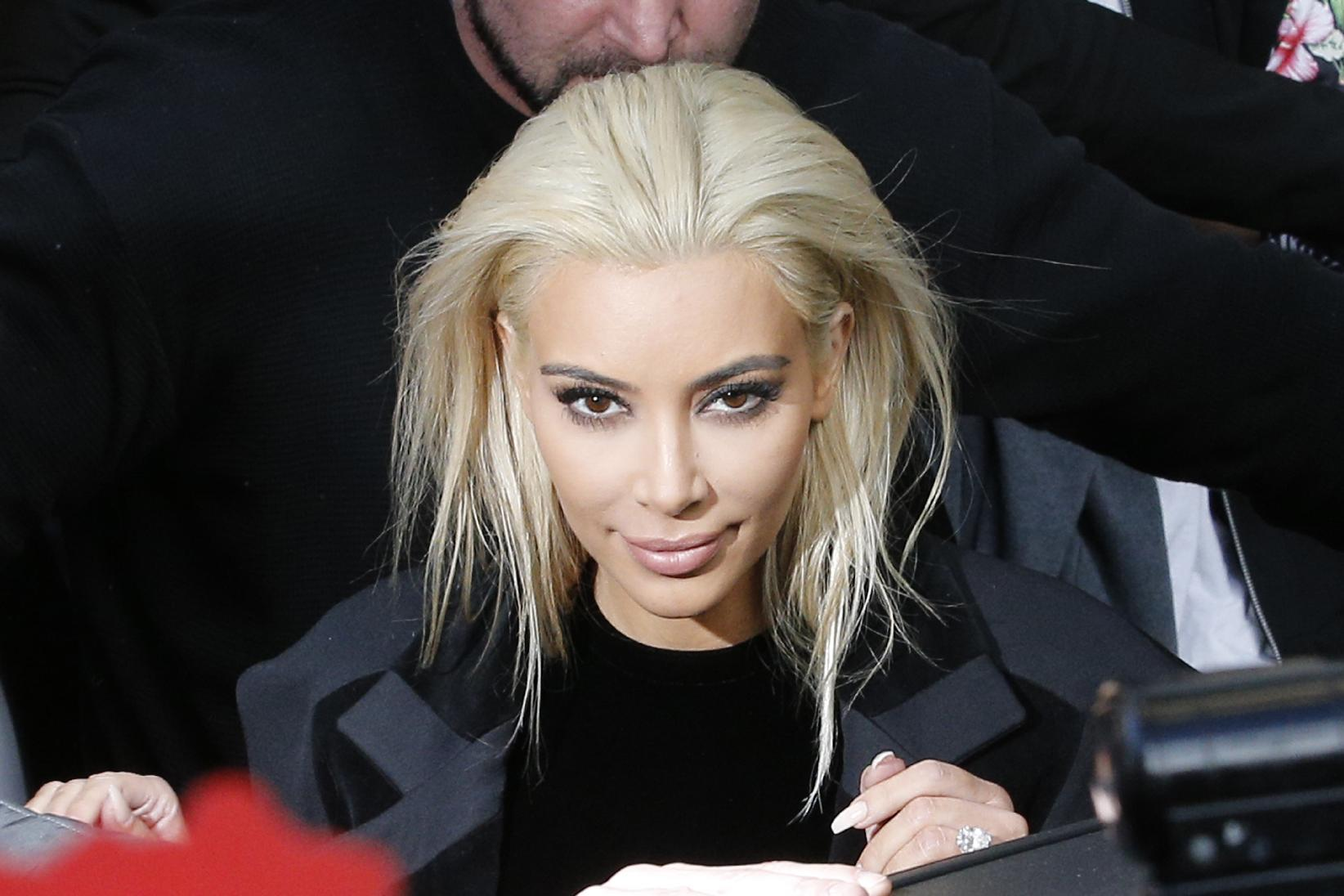 When in Paris: Kim Kardashian goes platinum for Fashion Week