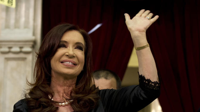 Argentine president proclaims 'victorious decade'