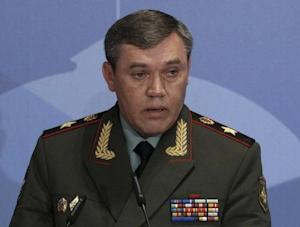 Russian armed forces Chief-of-Staff Valery Gerasimov attends a conference titled Military and Political Aspects of European Security in Moscow
