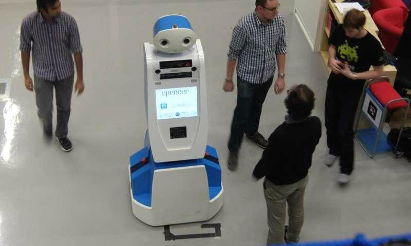 'Spencer' the robot wants to make sure you don't miss your flight
