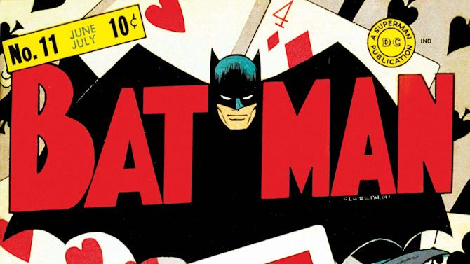 """In this undated photo provided by DC Comics, the issue 11 cover of """"Batman"""" is shown. Jerry Robinson, the artist who helped create """"The Joker"""" in the Batman series has died on Wednesday, Dec. 7, 2011 in New York City.  He was 89. (AP Photo/DC Comics, Jerry Robinson)"""