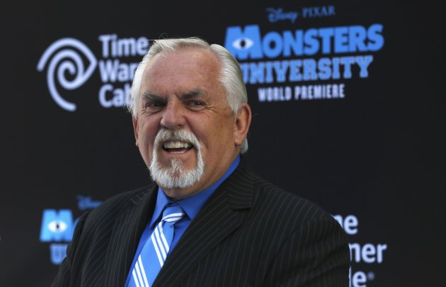 "Cast member John Ratzenberger poses at the premiere of the film ""Monsters University"" at El Capitan theatre in Hollywood"