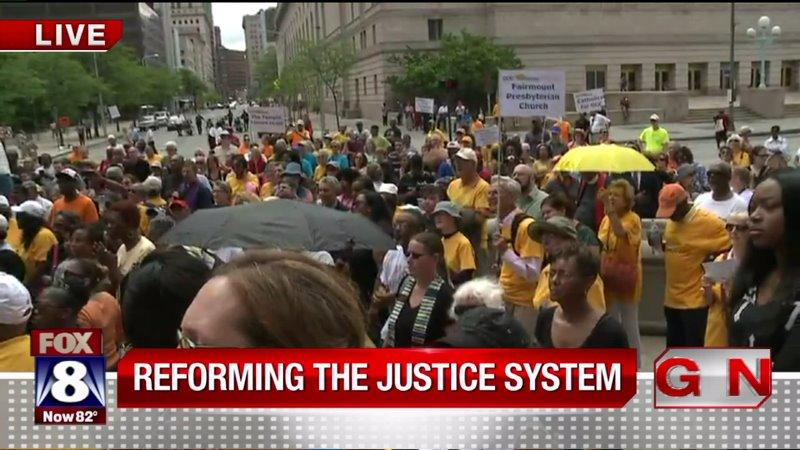 Hundreds Gather To Demand Reform In Cleveland`s Justice System