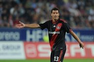 Bayer Leverkusen midfielder Michael Ballack pictured during a German first division away to FC Augsburg in southern German on September 2011. Spanish police said Thursday they caught former Germany captain and Chelsea star Ballack speeding on a highway in Spain, reportedly at 211 kilometres (131 miles) per hour