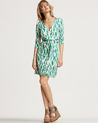"Diane von Furstenberg ""New Julian"" Silk Jersey Wrap Dress, $325"