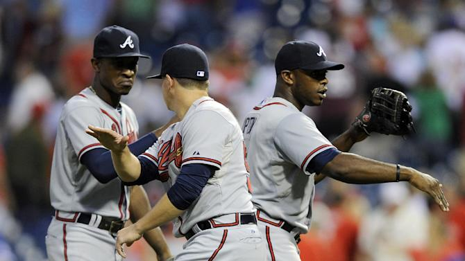 Uggla's RBI grounder lifts Braves past Phils in 12