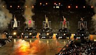 The Spice Girls perform during the closing ceremony of the 2012 London Olympic Games on August 12, 2012. The London Olympics led to 150 million tweets -- more than the US elections and Super Bowl combined, Twitter said Tuesday