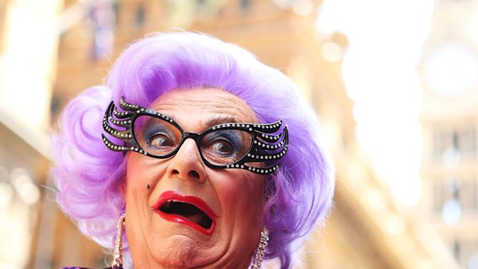 Dame Edna Does Live Zumba Class