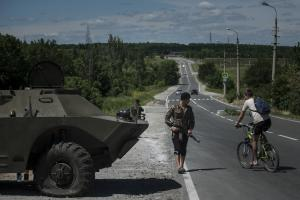 A pro-Russian fighter from a group that calls itself…