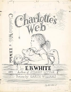 This photo provided by Heritage Auctions shows the original 1952 cover art by Garth Williams for the beloved children's book, Charlotte's Web by E.B. White, which sold for $155,350 in a New York City auction conducted by Heritage Auctions, Friday, October 15, 2010. A total of 42 pieces of original art for the book, consigned by the late artist's family, sold for a combined total of $780,240. (AP Photo/Heritage Auctions) NO SALES