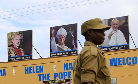Pope in Africa says dialogue vital to avert violence in God's name