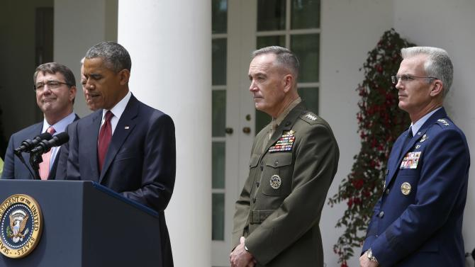 U.S. President Obama hosts a Rose Garden event to nominate Marine Corps' Commandant Dunford as the next Joint Chiefs chairman in Washington