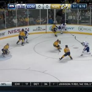 Pekka Rinne Save on David Perron (11:47/1st)