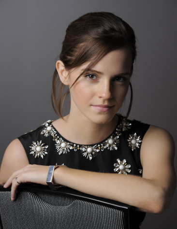 Emma Watson, a cast member in &quot;The Perks of Being a Wallflower,&quot; poses for a portrait at the 2012 Toronto Film Festival, Sunday, Sept. 9, 2012, in Toronto. (Photo by Chris Pizzello/Invision/AP)