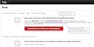Stop Unsubscribers in their Tracks: A Lesson from Fab image end communcation FAB 1