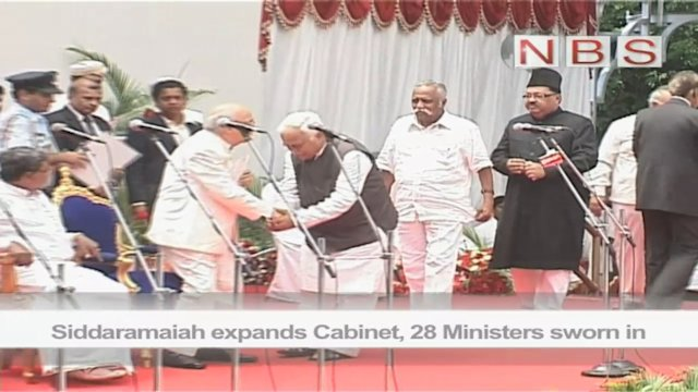 Siddaramaiah expands Cabinet, 28 Ministers sworn in