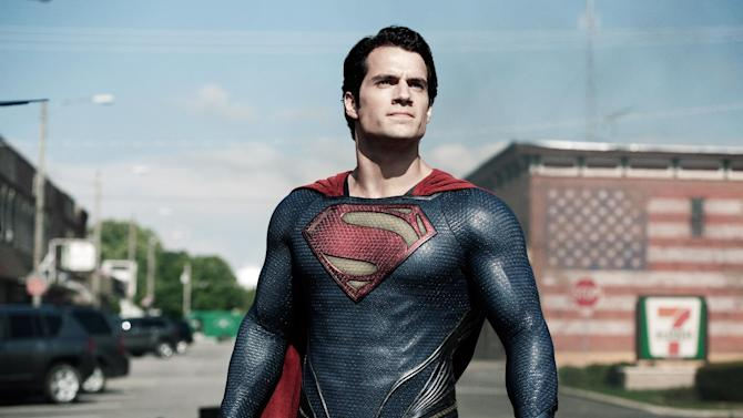 "This film publicity image released by Warner Bros. Pictures shows Henry Cavill as Superman in ""Man of Steel."" Warner Bros. enlisted Christian-focused marketing firm Grace Hill Media to promote ""Man of Steel"" to faith-based groups by inviting them to early screenings and creating trailers that highlight the film's religious themes. They also enlisted a Pepperdine University professor to create a Superman-centric sermon outline for pastors. The tale of Superman has long been associated with religious allegories. ""Man of Steel"" doesn't shy away from that theme, including portraying the character as 33 years old and having him seek counsel at a church in a time of crisis.  (AP Photo/Warner Bros. Pictures, Clay Enos)"