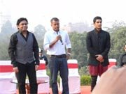 A. R. Rahman unveils EK DEEWANA THA music at Taj Mahal