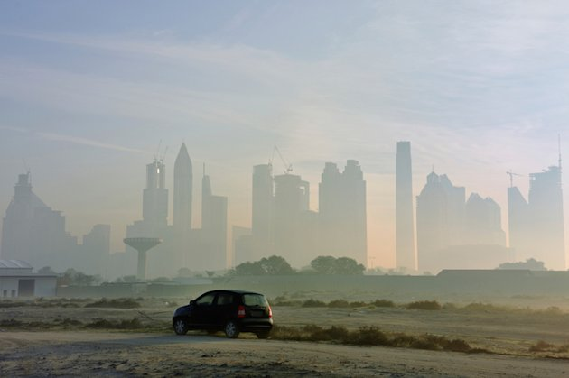 Dubai in the fog.