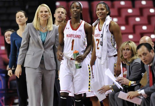 Hawkins leads No. 10 Maryland women past American