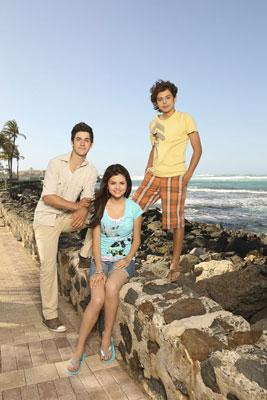 David Henrie, Selena Gomez and Jake T. Austin in the Disney Channel Original Movie Wizards of Waverly Place