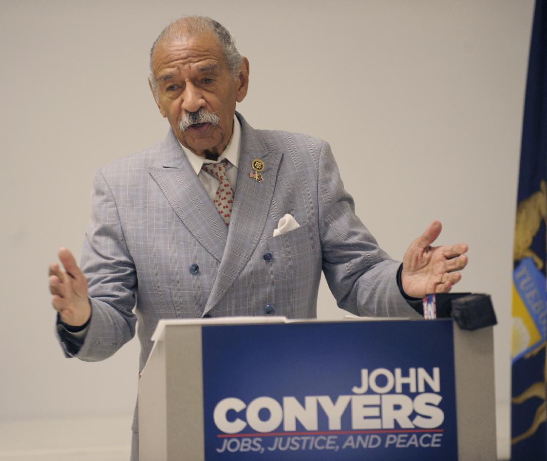 House Dean Rep. Conyers announces re-election campaign