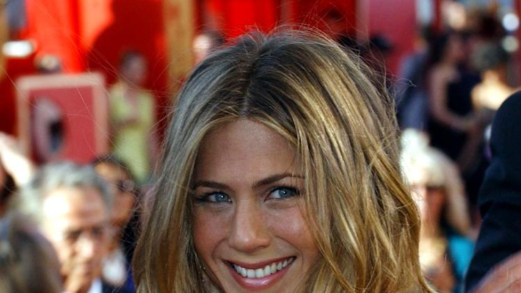 Jennifer Aniston at The 56th Annual Primetime Emmy Awards.