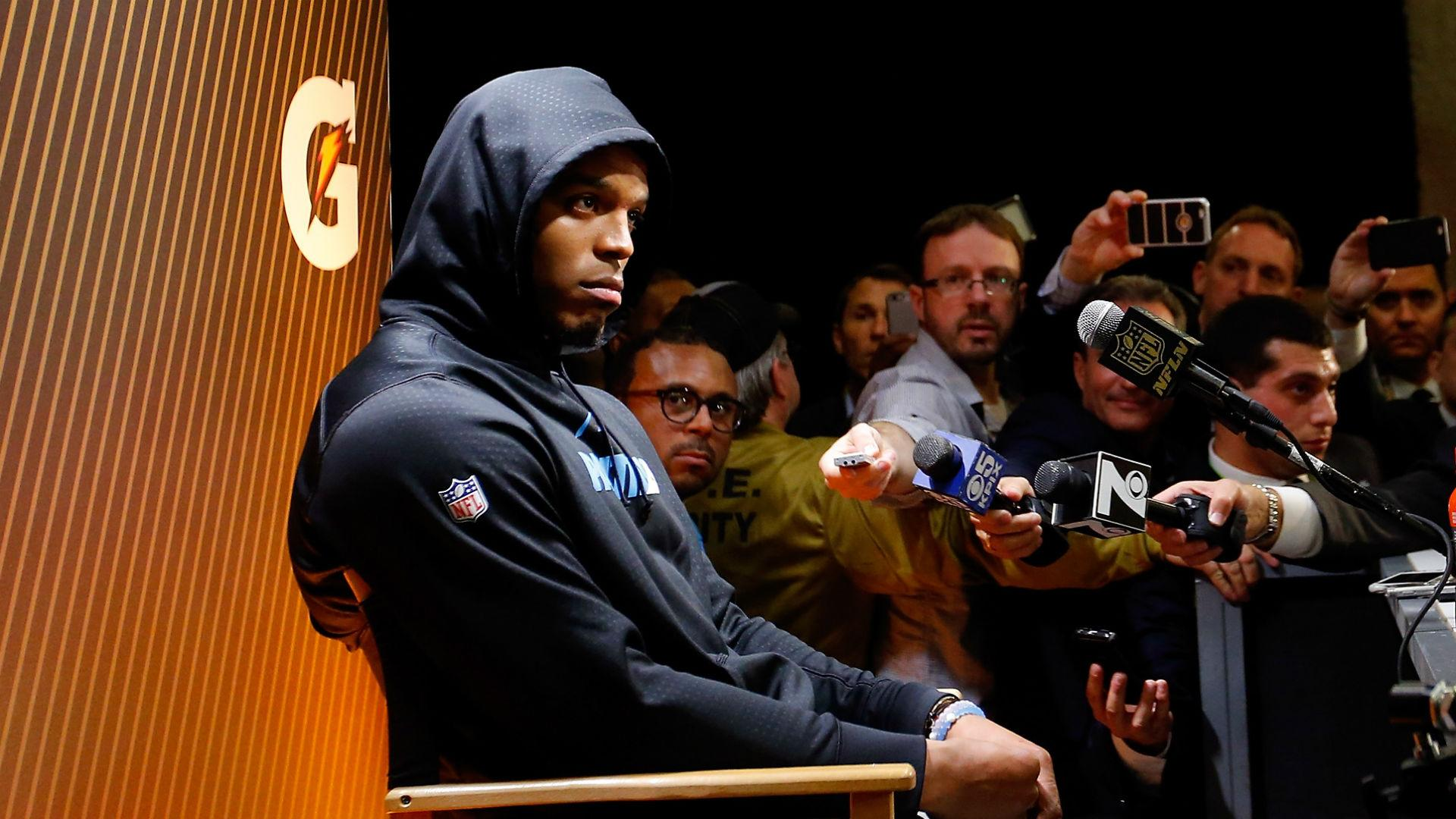 Newton cuts news conference short after Super Bowl 50 loss