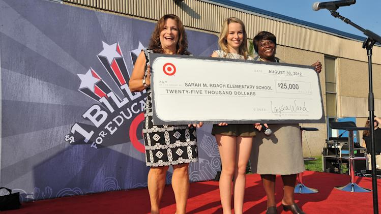 "XXX is seen at the ""Give With Target"" school celebration on Thursday, Aug. 30, 2012 in Baltimore, Md. (Photo by Larry French/Invision for Target/AP Images)"