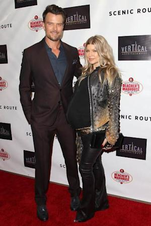 Josh Duhamel and pregnant Fergie -- Getty Premium