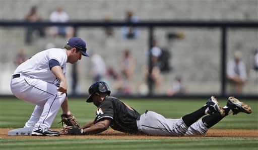 Marquis outpitches Nolasco as Padres sweep Marlins