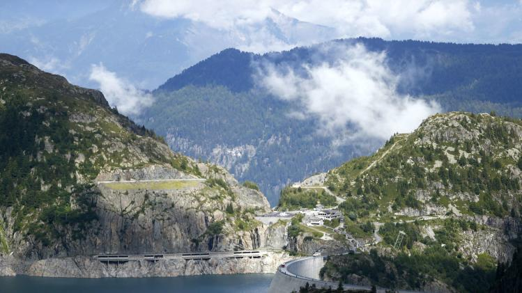 File photo of a general view of the Emosson dam during a visit to the Nant de Drance hydropower plant near the village of Finhaut